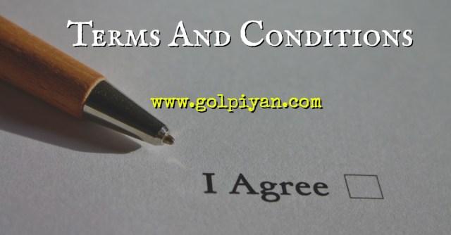 Terms and Conditions – শর্ত ও নিয়মাবলী
