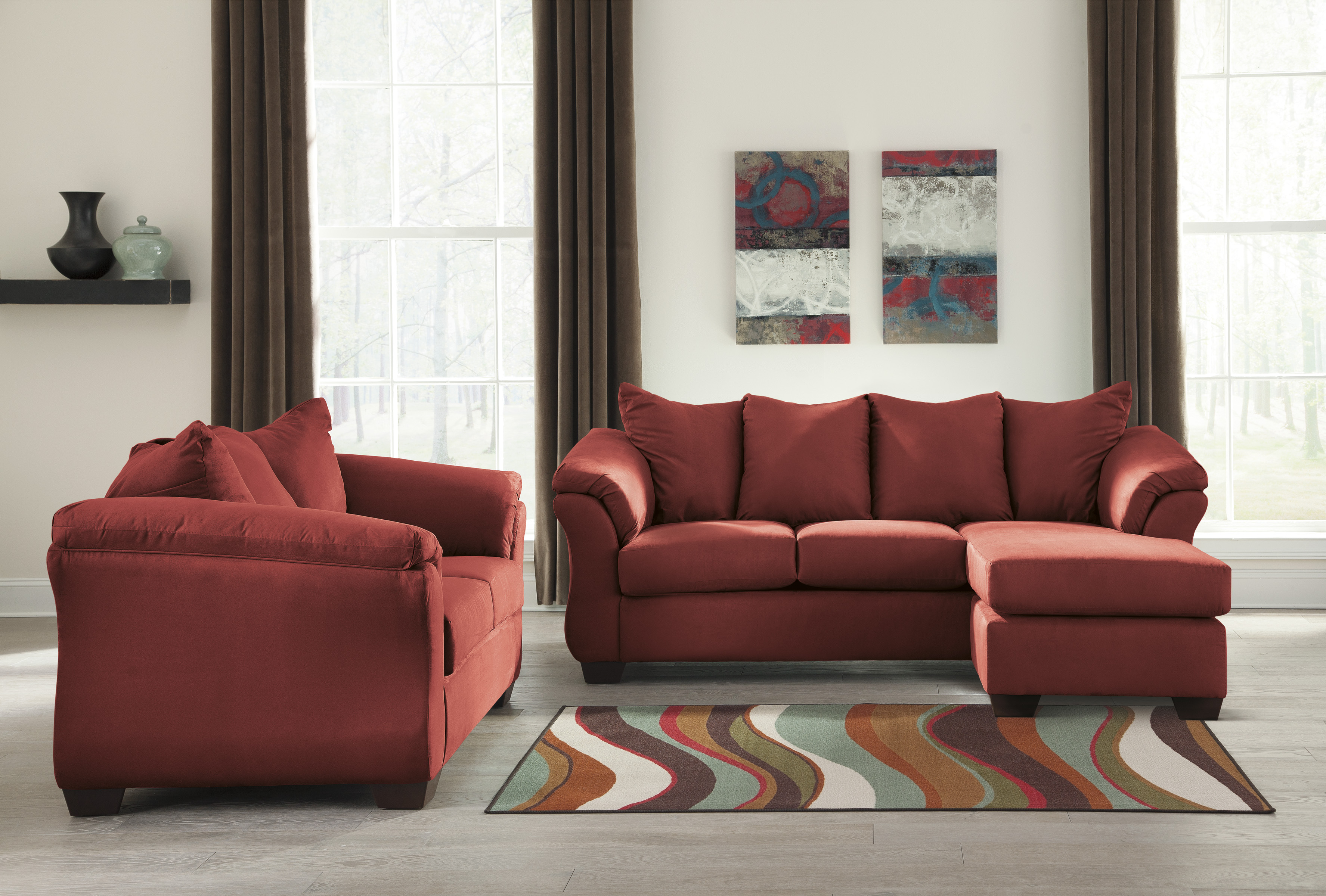 Majik Darcy Salsa Sofa Chaise And Loveseat Rent To Own Furniture In Pennsylvania