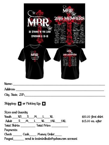 MBR Tshirt order