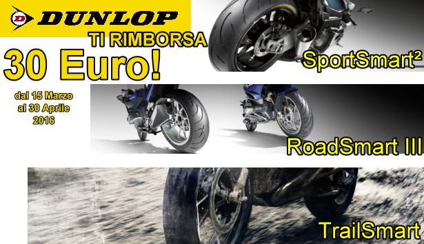 DUNLOP ti rimborsa 30 euro su pneumatici MOTO!