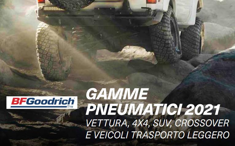 BFGoodrich – Catalogo 2021: vettura, 4×4, SUV, crossover e trasporto leggero
