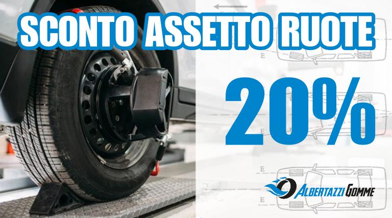 Sconto del 20% sull'assetto ruote fino al 31 marzo 2021