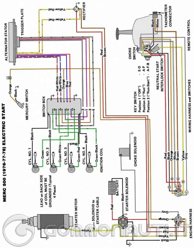 2002 Mercury 225 Wiring Diagram