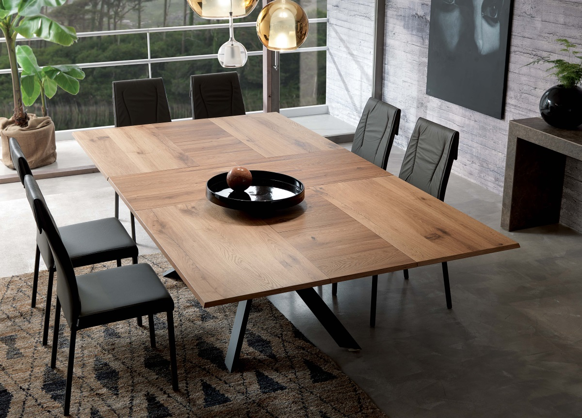 Ozzio 4x4 Extending Dining Table Ozzio Furniture At Go Modern London