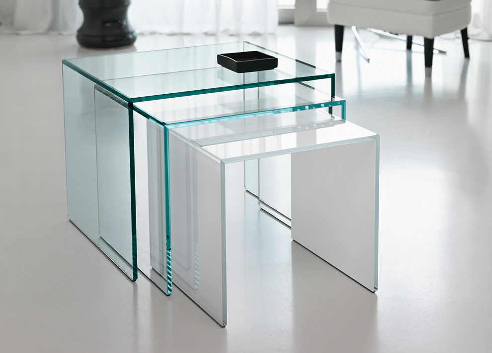 Tonelli Trio Nest Of Glass Coffee Tables Tonelli Design Modern Furniture
