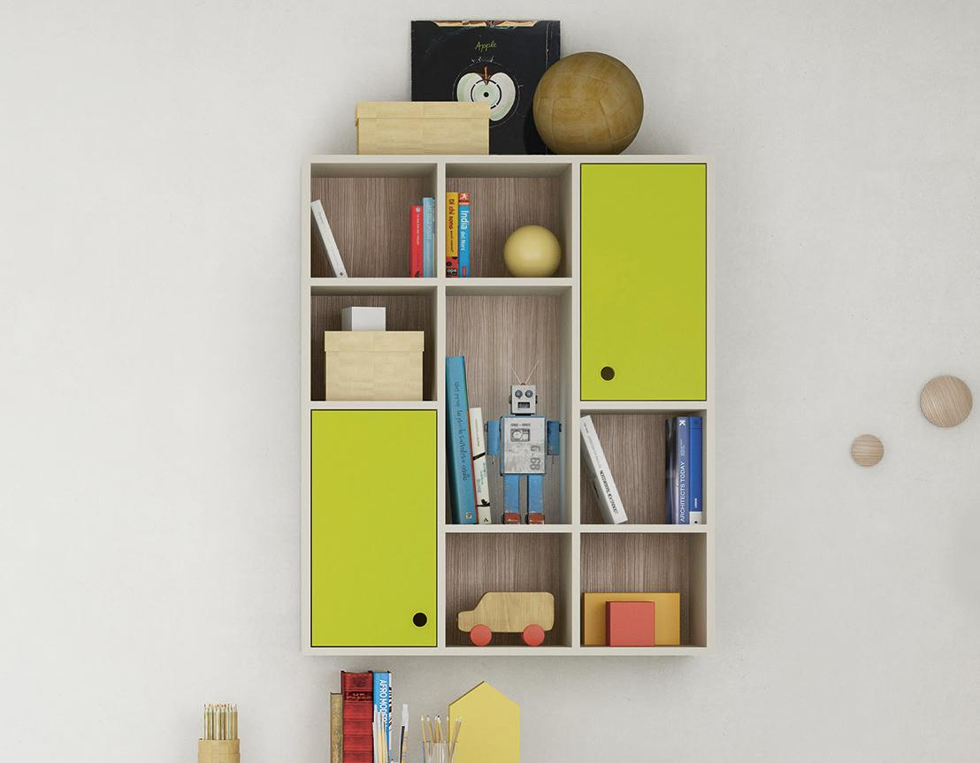 Battistella Nidi Wall Unit Bookcase 12