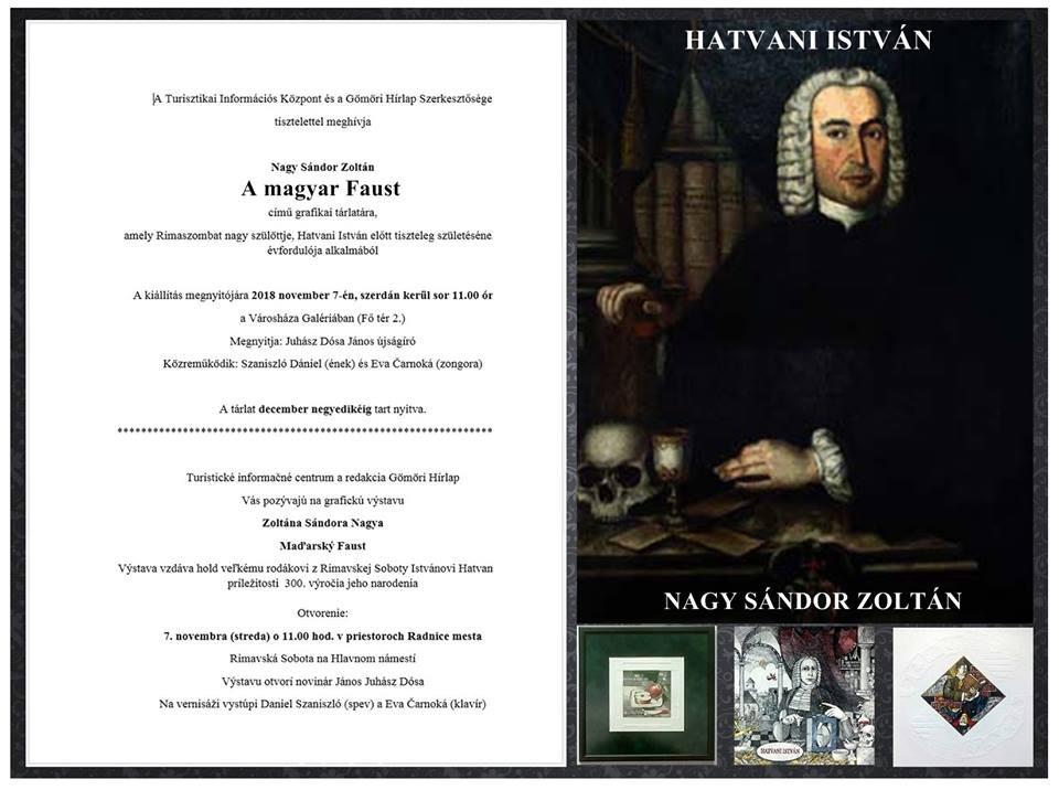 A magyar Faust - Grafikai tárlat Hatvani István emlékére
