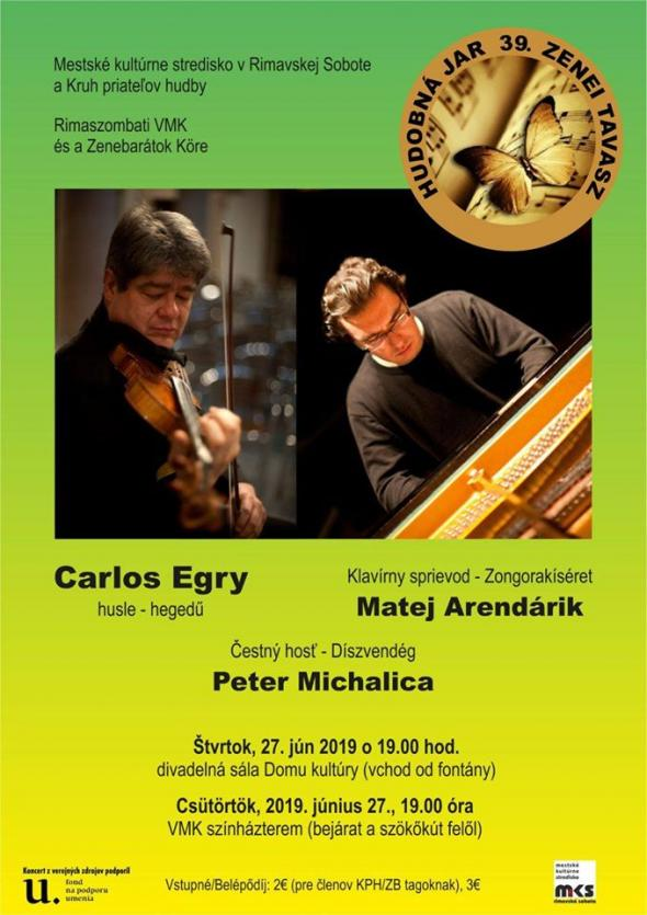 Carlos Egry hegedűkoncertje Rimaszombatban