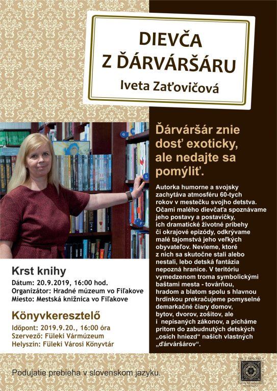 Zaťovičová Iveta könyvének keresztelője Füleken