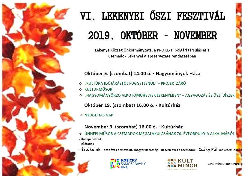 VI. Lekenyei Őszi Fesztivál