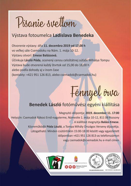 Benedek László fotóművész kiállítása Pozsonyban