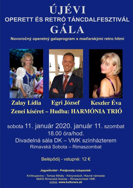 Újévi operett és retró táncdalfesztivál gála Rimaszombatban