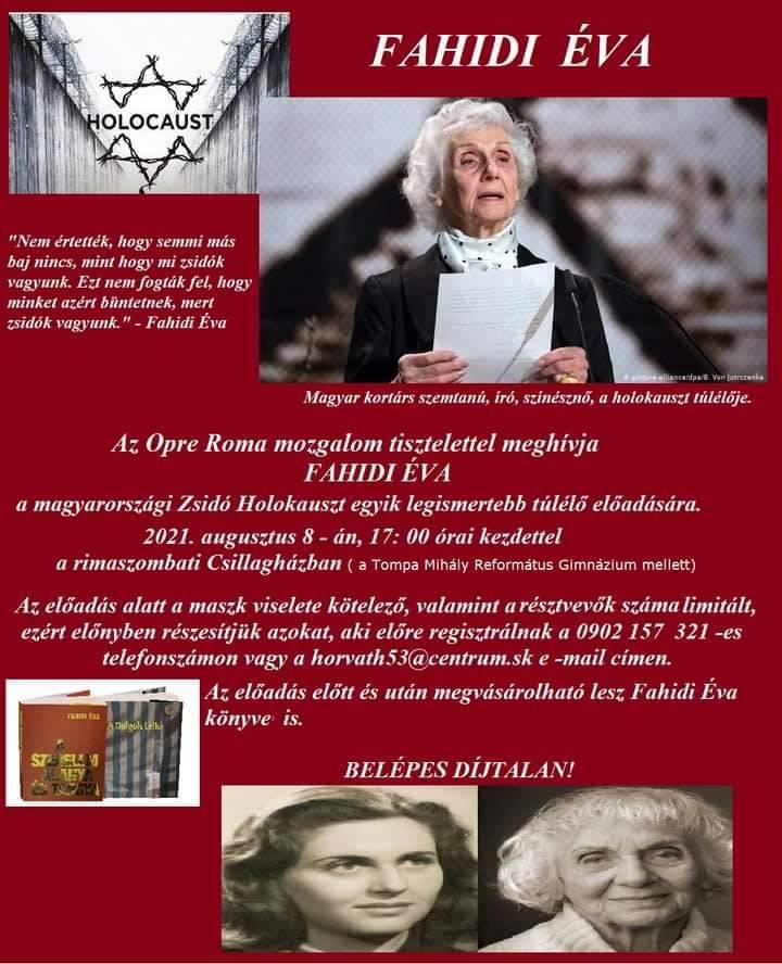 Fahidi Éva előadása a rimaszombati Csillagházban