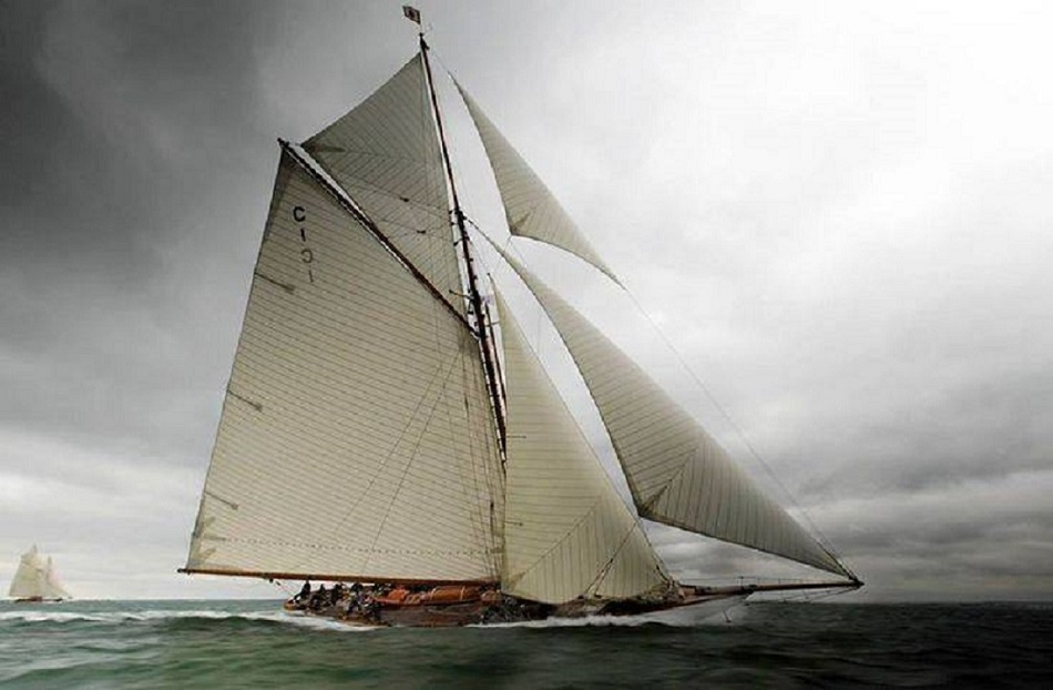 J Class Sailboats And Yachts Under Sails Racing