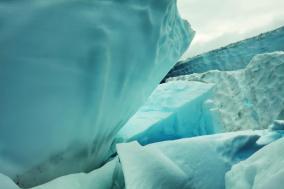 Photo of a glacier in Alaska.