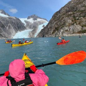 Kayaking By A Glacier!