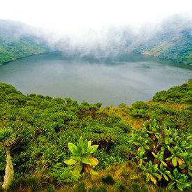 Beautiful Crater Lake at Volcanoes National Park