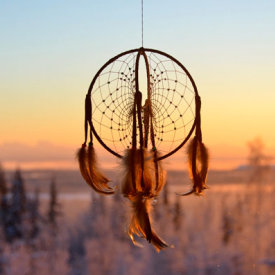 A Dreamcatcher at Sunset Outside Fairbanks
