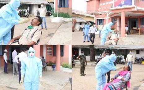kondgaon-police-corona-test