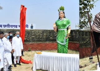 chhattisgarh-matahari-gandhi-murti-08-march-2021