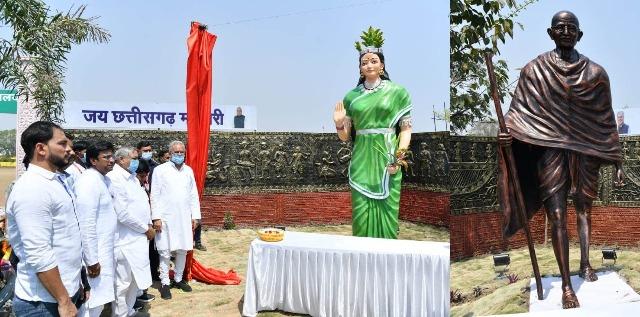 chhattisgarh-matahari-gandhi-murti-08-march-2021