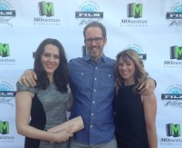 Kate Connor, Kasi Brown, and Brandon Walter at the JDFF red carpet.