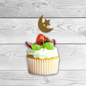 Eid Cup Cake Toppers