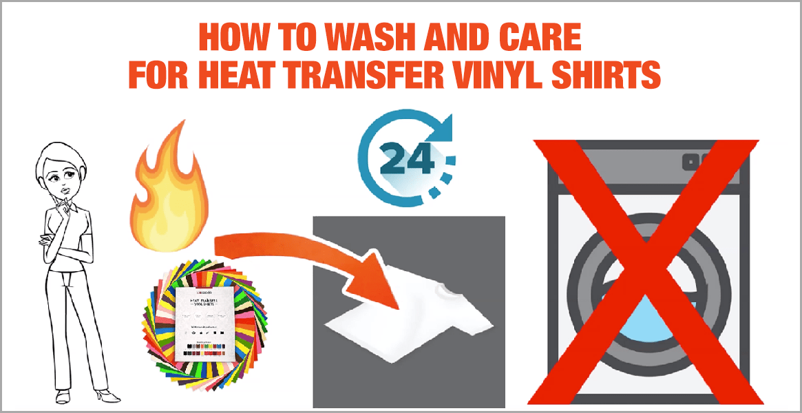 How You Wash A Tshirt Or Any Garment With Heat Transfer Vinyl On It?