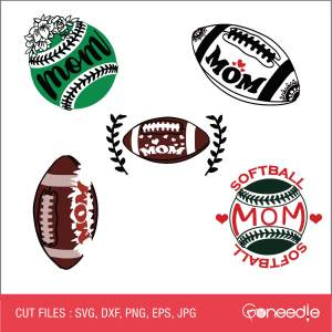 Mother's Day Cut File - Sports Mom Bundle