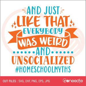 And just like that – everybody was weird and unsocialized #homeschoolmyths