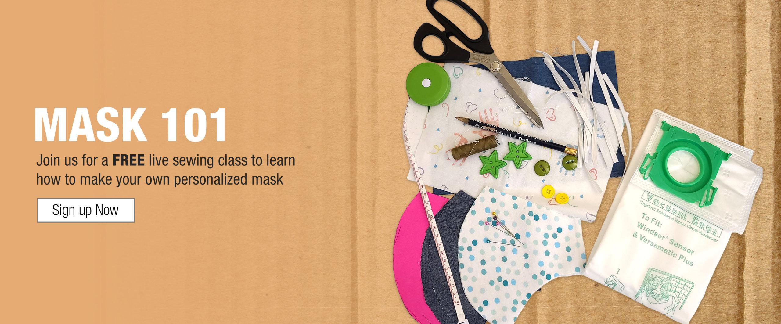 Mask 101-Free Sewing Class