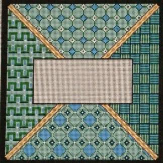Blue Green Geometric Tefillin