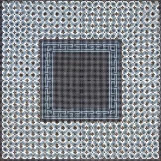 Grey Blue Borders Tefillin