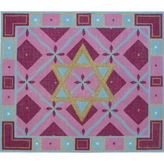 Star of David Tallit Diamond in pink