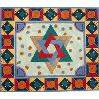 Entwined Stars of David Tallit