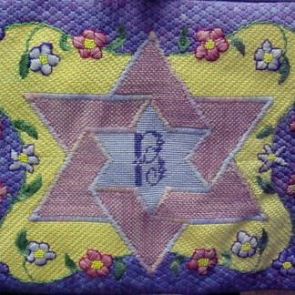 Star of David Flowers Tallit