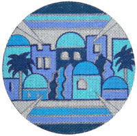 Shades of Blue Yarmulke