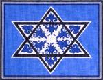Blue Floral Tallit