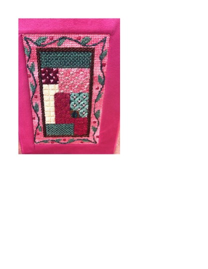 Gone Stitching Sampler Siddur Cover