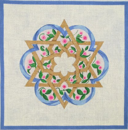 Challah Cover Flower and Star