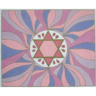 Star of David Tallit in pink/purple