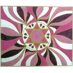 Star of David Tallit  in Purple