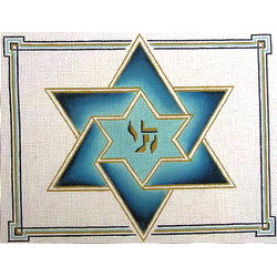 Double Star of David Tallit (blue)