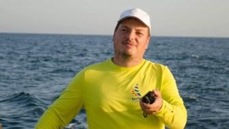 """Ovidiu Drugan, unul dintre skipperi """"implicați"""" în oferta turistică. FOTO Cătălin SCHIPOR"""
