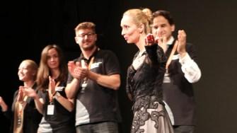 Anna Ungureanu, dirijorul corului Madrigal la European Music Open. FOTO Adrian Boioglu