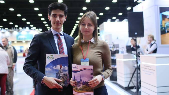 Andrei Vîlcovan promovează România în Rusia. FOTO Kalinka Travel