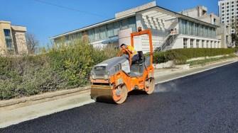 Lucrări de asfaltare în stațiunea Eforie Nord. FOTO Primăria Eforie