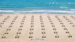 Pe plajele din Bulgaria au fost stabilite distanțe de siguranță pentru turiști. FOTO Facebook / Albena Resort