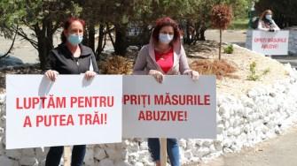 Protest angajaților în turismul de pe litoral. FOTO Adrian Boioglu