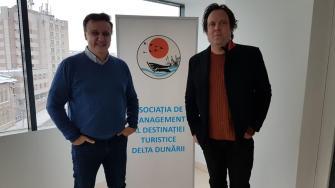 Cătălin Țibuleac, președintele Asociației Delta Dunării și realizatorul tv Charlie Ottley
